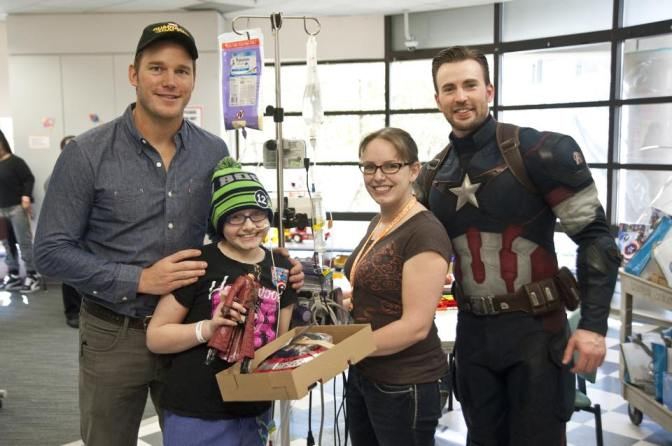 Chris Evans and Chris Pratt Visit Seattle Children's Hospital
