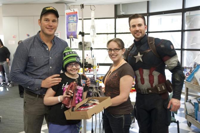 Chris Evans and Chris Pratt Visit Seattle Children's Hospital